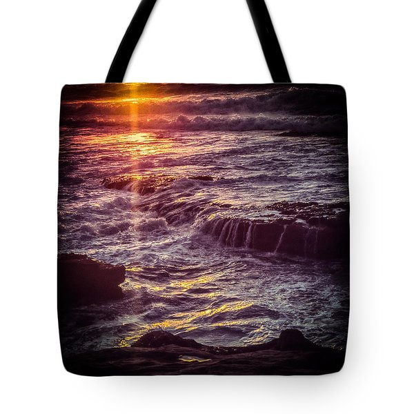 Tote Bag featuring the photograph La Jolla Sunset-color by Samuel M Purvis III