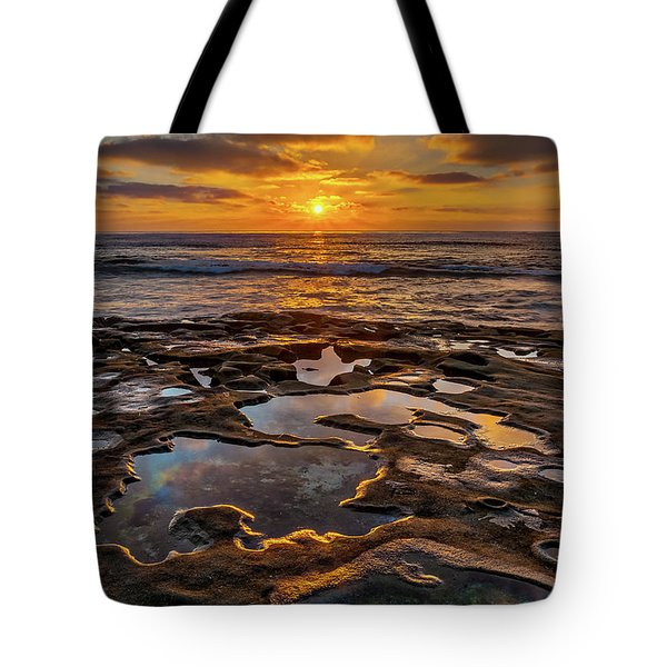 La Jolla Tidepools Tote Bag by Peter Tellone
