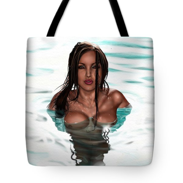 Tote Bag featuring the painting La Llorona by Pete Tapang