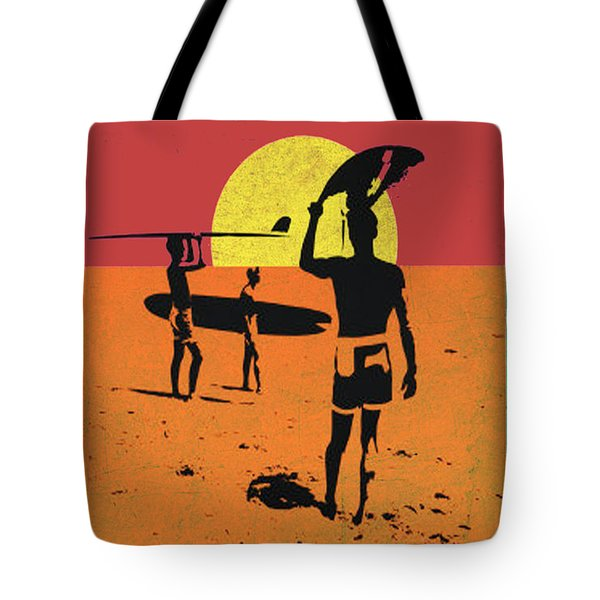 Tote Bag featuring the digital art La Long Boards by Greg Sharpe