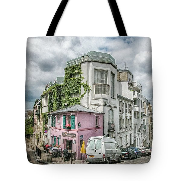 Tote Bag featuring the photograph La Maison Rose by Alan Toepfer