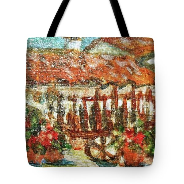 Tote Bag featuring the painting La Mancha by Mindy Newman