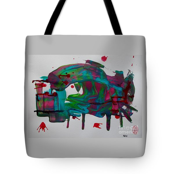 Tote Bag featuring the painting La Muerte En La Plaza De Toros by Roberto Prusso