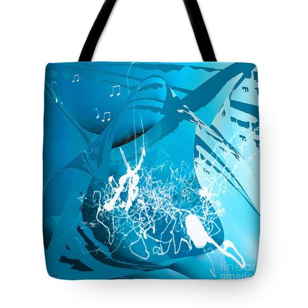 Tote Bag featuring the digital art La Musica by Gerlinde Keating - Galleria GK Keating Associates Inc