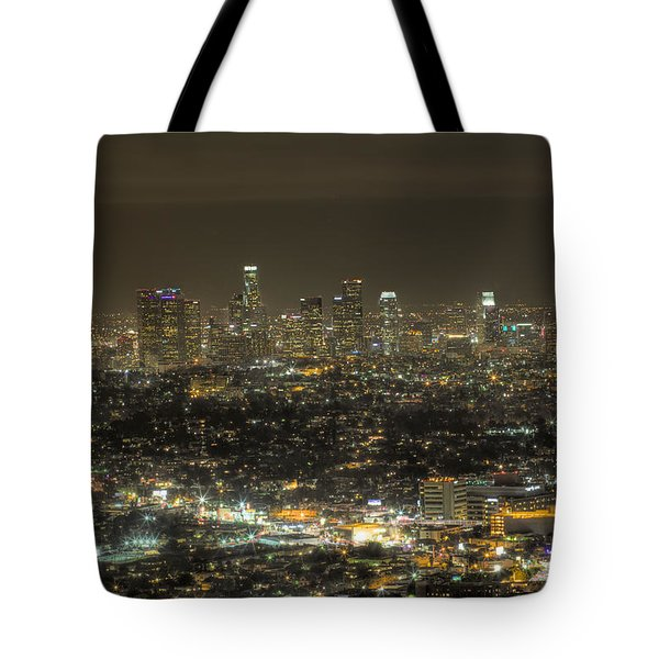 Tote Bag featuring the photograph La Nights by Kim Wilson