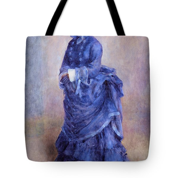 La Parisienne The Blue Lady  Tote Bag by Pierre Auguste Renoir