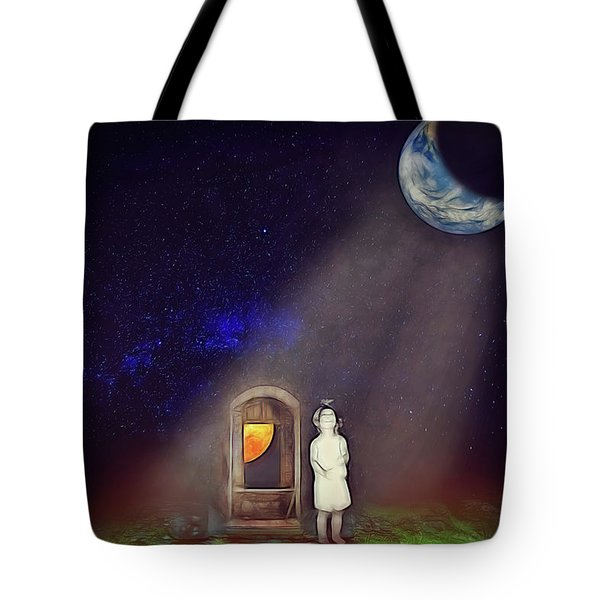 Tote Bag featuring the digital art La Petite Princesse by John Haldane