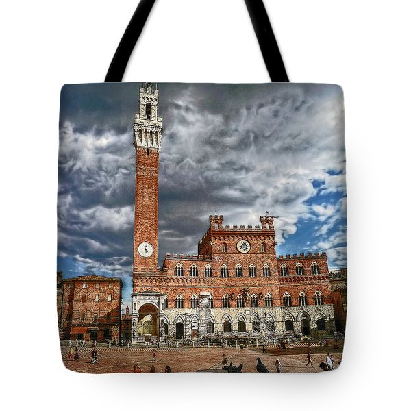 Tote Bag featuring the photograph La Piazza by Hanny Heim