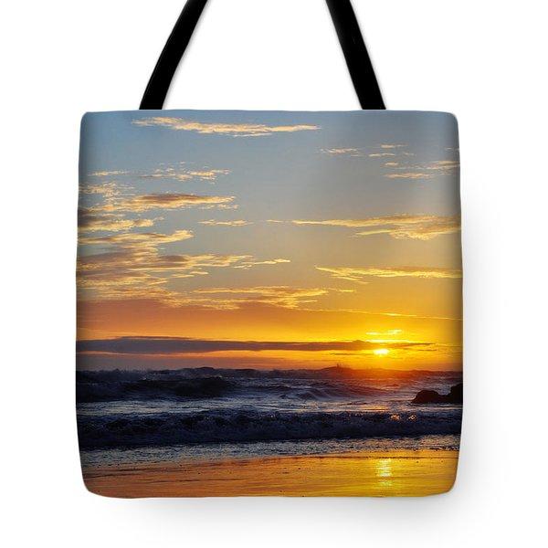 Tote Bag featuring the photograph La Piedra Sunset Malibu by Kyle Hanson