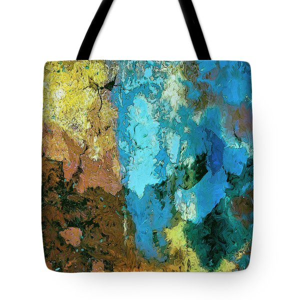 Tote Bag featuring the painting La Playa by Dominic Piperata