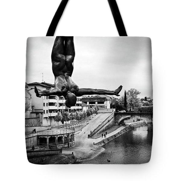 La Plongueuse Over The Midouze River Tote Bag by RicardMN Photography