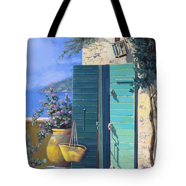 La Porta Verde Tote Bag by Guido Borelli