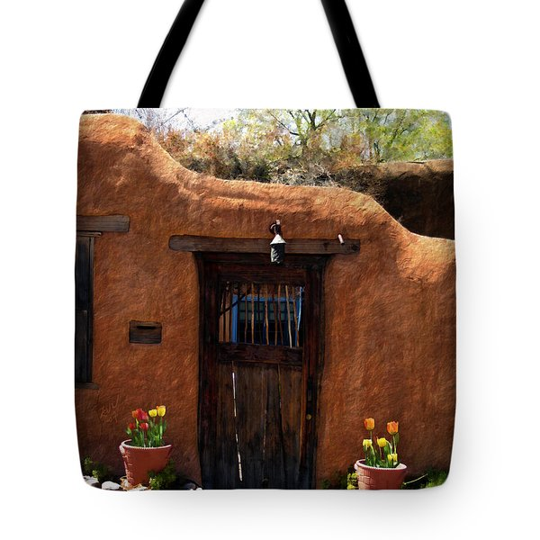 La Puerta Marron Vieja - The Old Brown Door Tote Bag by Kurt Van Wagner
