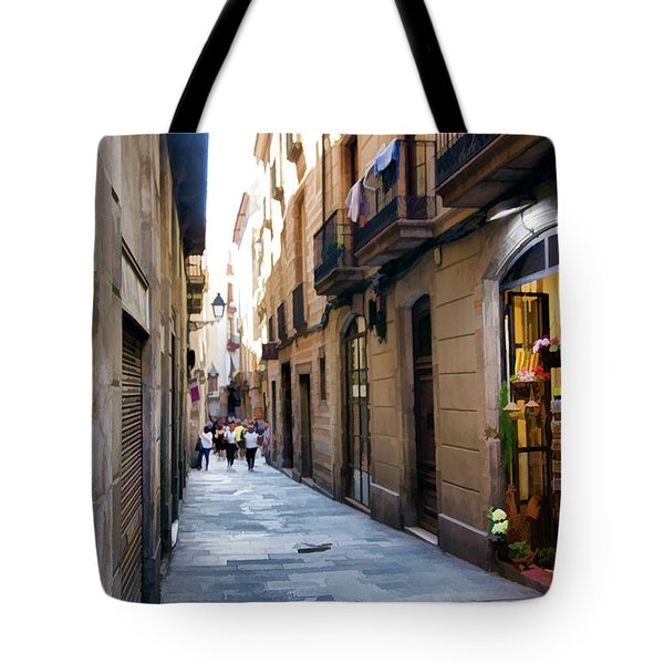 La Rambia Streets Color Tote Bag