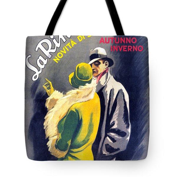La Rinascente - Novita Di Stagione - Vintage Fashion Advertising Poster - Fall Winter Collection Tote Bag