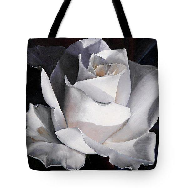 La Rosa Bianca Tote Bag