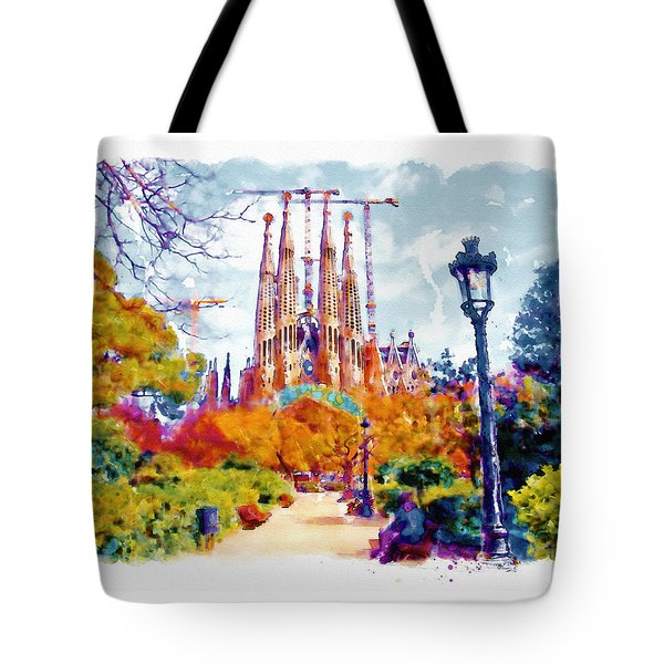 La Sagrada Familia - Park View Tote Bag by Marian Voicu