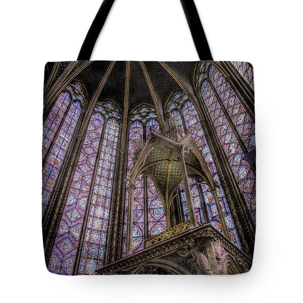 Paris, France - La-sainte-chapelle - Apse And Canopy Tote Bag