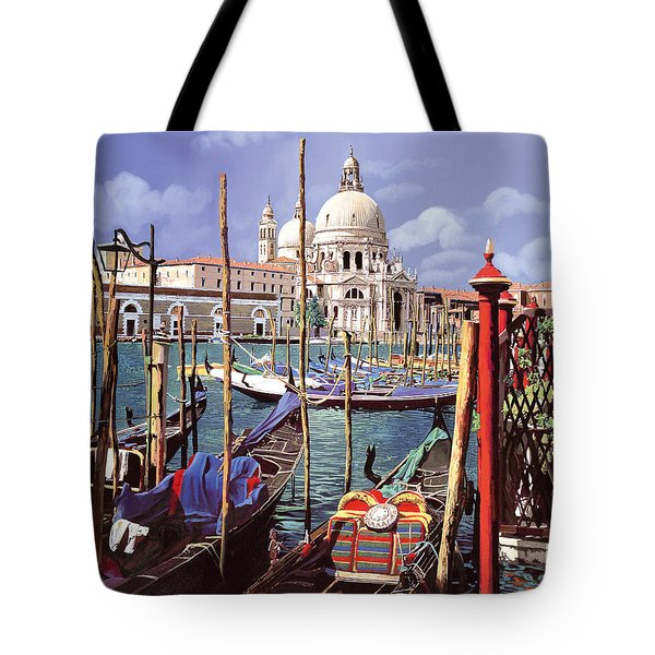 Tote Bag featuring the painting La Salute by Guido Borelli