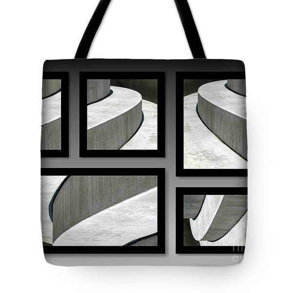 Tote Bag featuring the photograph La Stairs Collage 01a by Ausra Huntington nee Paulauskaite