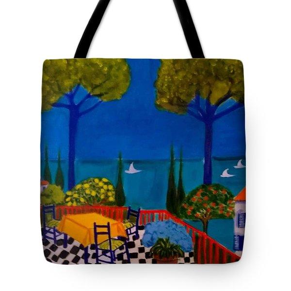 La Terasse En St Tropez Tote Bag