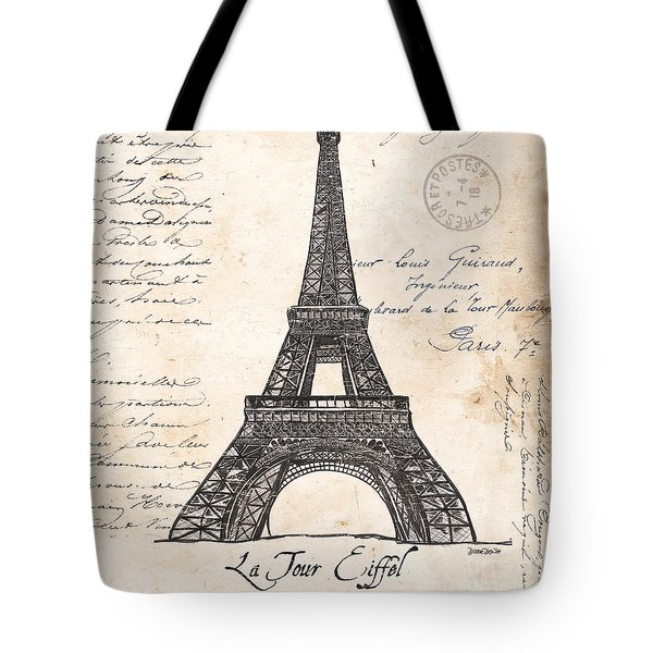 La Tour Eiffel Tote Bag by Debbie DeWitt