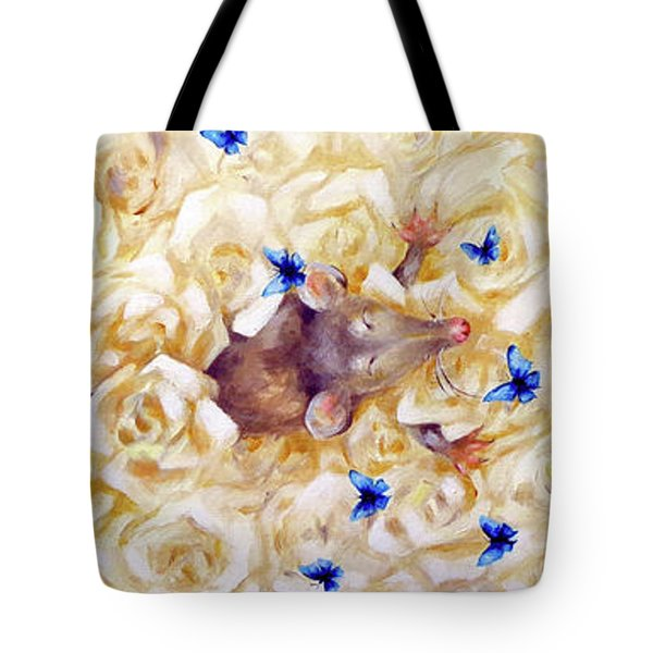 Tote Bag featuring the painting La Vie En Rose by Dina Dargo