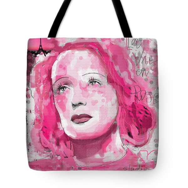 La Vie En Rose Tote Bag by Sladjana Lazarevic