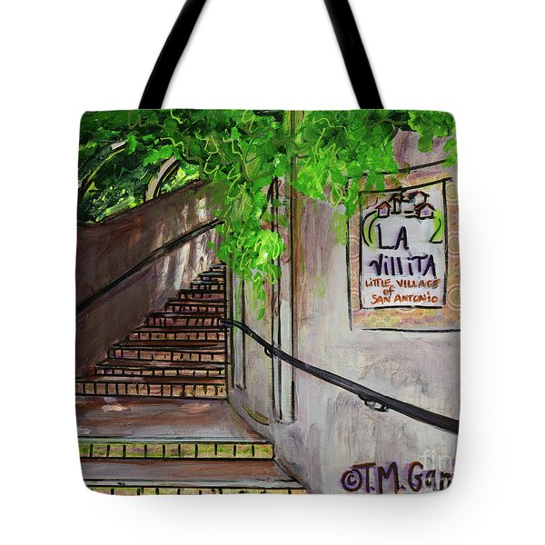 Tote Bag featuring the painting La Villita by TM Gand