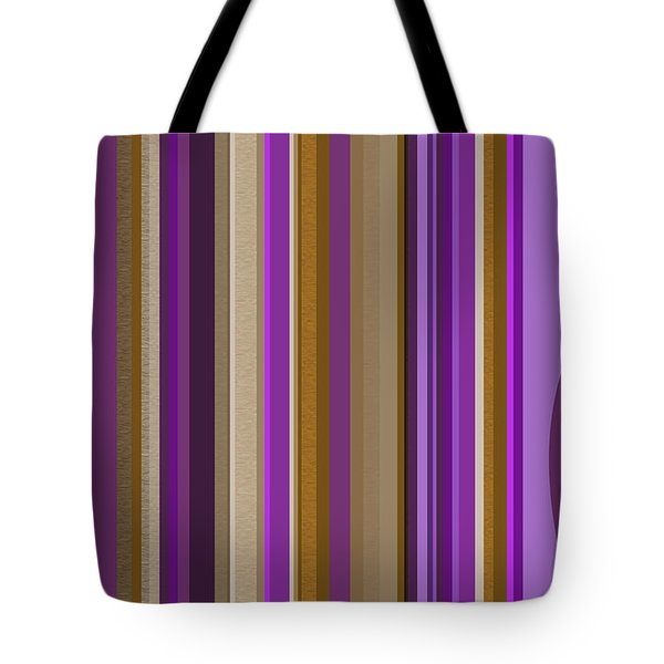 Large Purple Abstract - Two Tote Bag by Val Arie