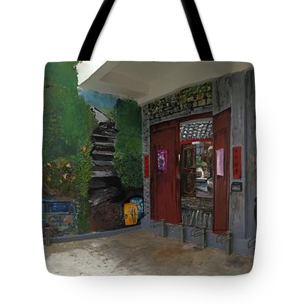 Tote Bag featuring the painting Labor Of Love II by Belinda Low