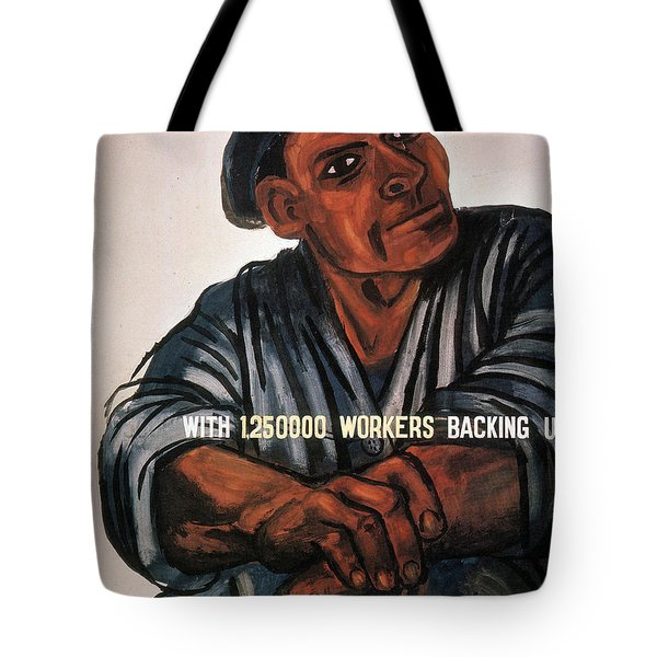 Tote Bag featuring the photograph Labor Poster, 1930s by Granger