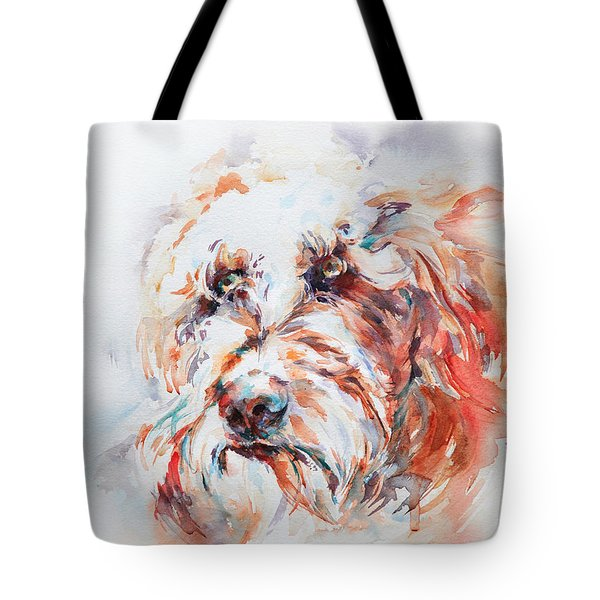 Labradoodle Tote Bag by Stephie Butler