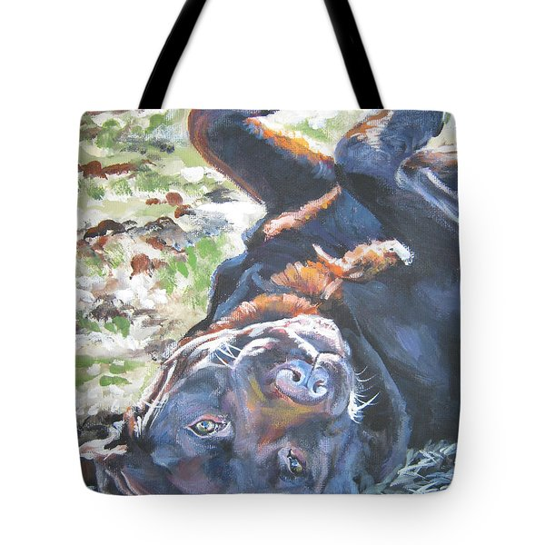 Labrador Retriever Chocolate Fun Tote Bag by Lee Ann Shepard