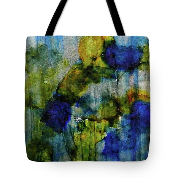 Tote Bag featuring the painting Labradorite Dreams Ink #9 by Sarajane Helm