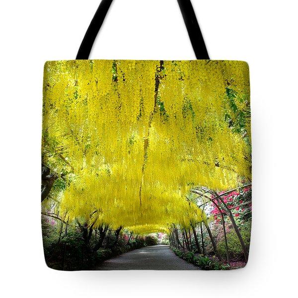 Laburnum Arch, Bodnant Garden Tote Bag