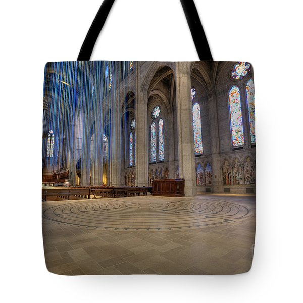Labyrinth At Grace Tote Bag by David Bearden