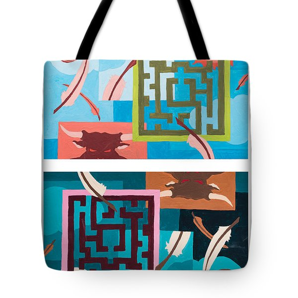 Labyrinth Night And Day Tote Bag