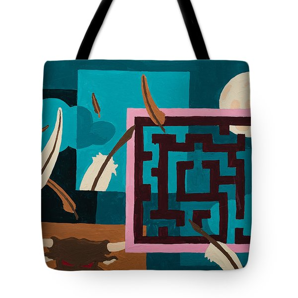 Labyrinth Night Tote Bag