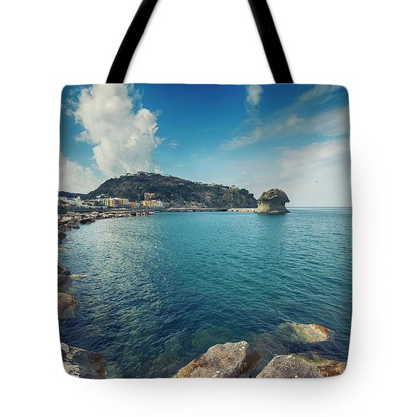 Tote Bag featuring the photograph Lacco Ameno Harbour ,  Ischia Island by Ariadna De Raadt