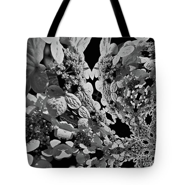 Lace Cap Hydrangea Flower Abstract Tote Bag