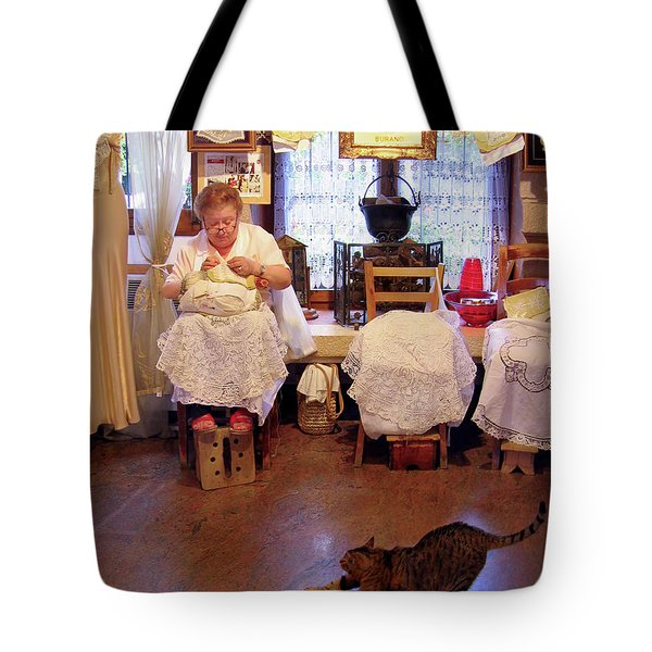 Lace Lady Of Burano Tote Bag