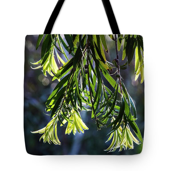 Lacey Leaves Tote Bag