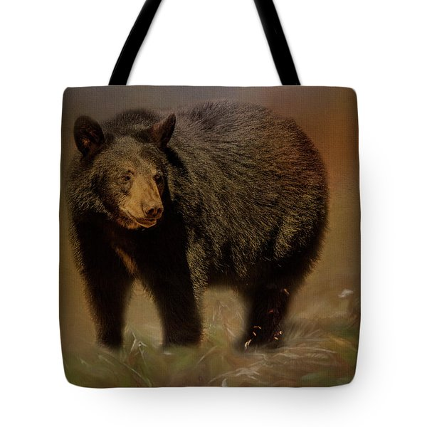 Tote Bag featuring the photograph Black Bear In The Fall by Teresa Wilson