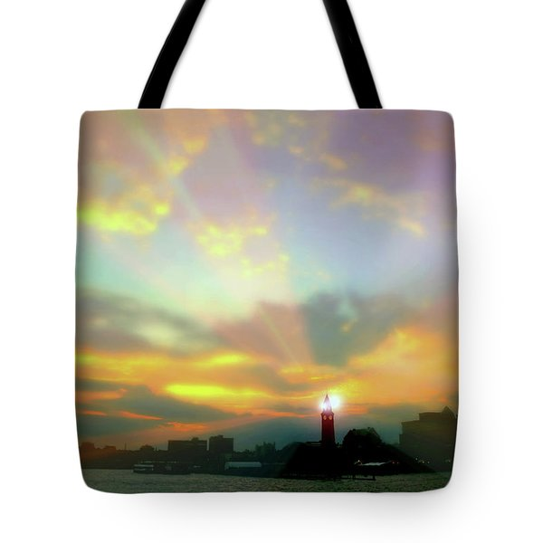 Tote Bag featuring the photograph Lackawanna Transit Sunset by Diana Angstadt