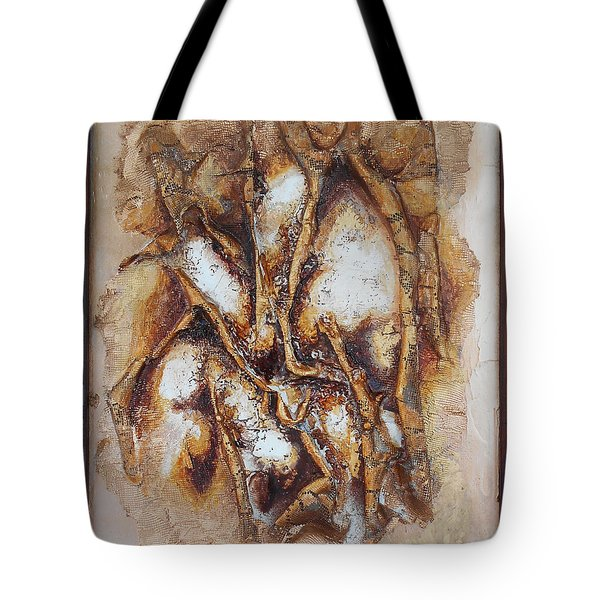 Lacy Branches Tote Bag by Angela Stout