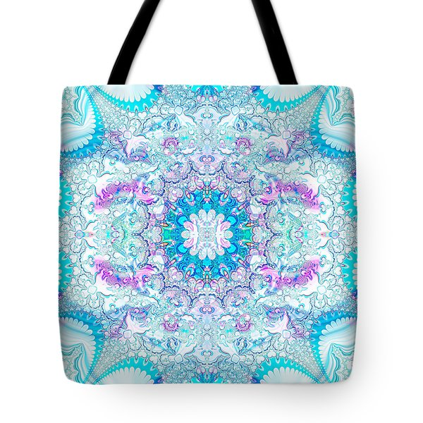 Tote Bag featuring the digital art Lacy Mandala by Bee-Bee Deigner