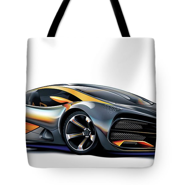Tote Bag featuring the drawing Milan Red Vector Art by Brian Gibbs