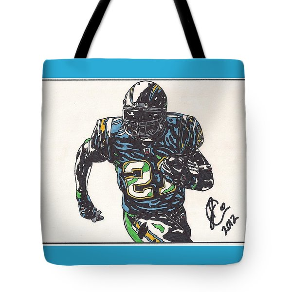 Ladainian Tomlinson 1 Tote Bag by Jeremiah Colley