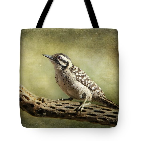 Tote Bag featuring the photograph Ladder-backed Woodpecker by Barbara Manis
